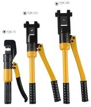 YQK 70 6T/8T/12T pince à sertir hydraulique Kit doutils bornes de Tube cosses fil de batterie Force de sertissage pince hydraulique
