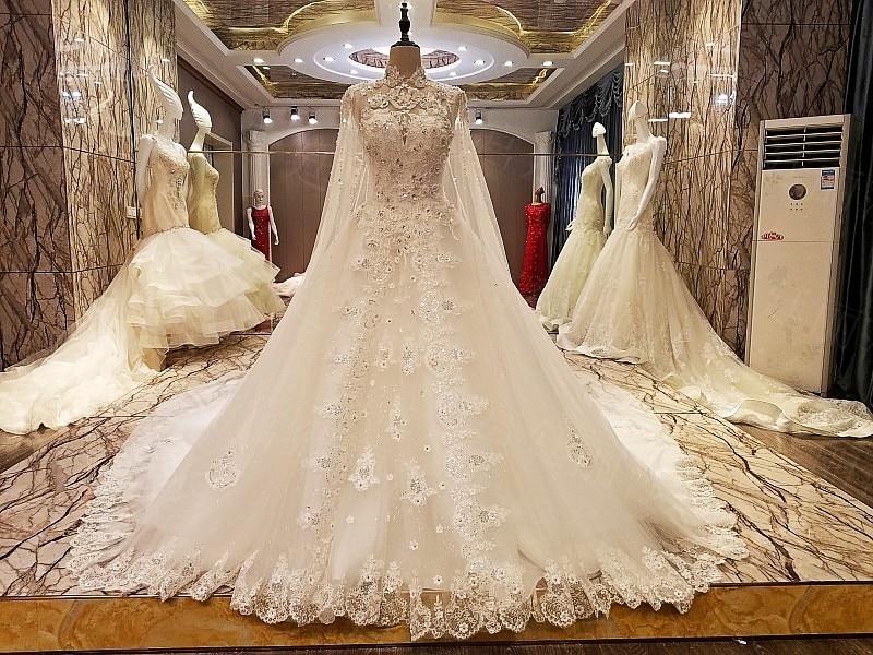 2017 Backlake Simple Luxury A Line Lace Wedding Dress