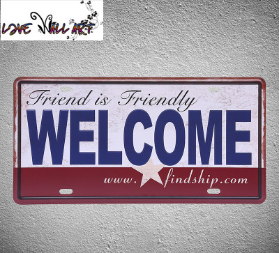 NEW Europe CCcam Welcome Friend vintage bar decor Easy Home Life metal painting home pub decor 15X30CM