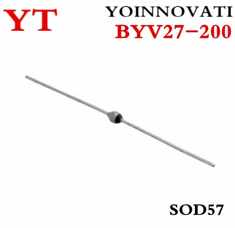 free shipping 100pcs  lot byv27 200 byv27 diode avalanche 200v 2a sod57 ic