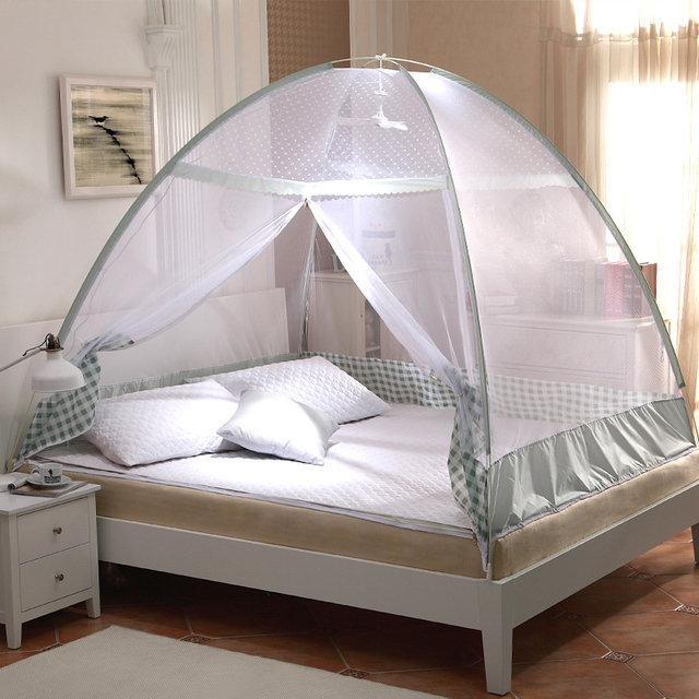 Green Purple Plaid Mosquito Net Tents,Portable Mosquito Nets,Bed ...