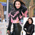 2017 New Full Embroidery Beaded Fringe Outfit Sexy Celebrity Runway Winter Handmade Embroidery Outfit Broque Vintage Tassels Top