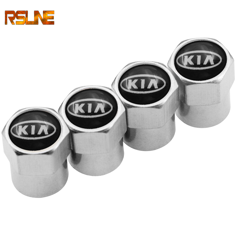 4PCS Wheel Tire Parts Valve Stem Caps Cover For Kia Ceed Rio Sportage R K3 K4 K5 Ceed Sorento Cerato Optima 2015 2016 2017 2018