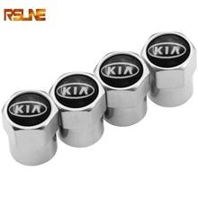 4PCS Wheel Tire Parts Valve Stem Caps Cover For Kia Ceed Rio Sportage R K3 K4 K5 Sorento Cerato Optima 2015 2016 2017 2018