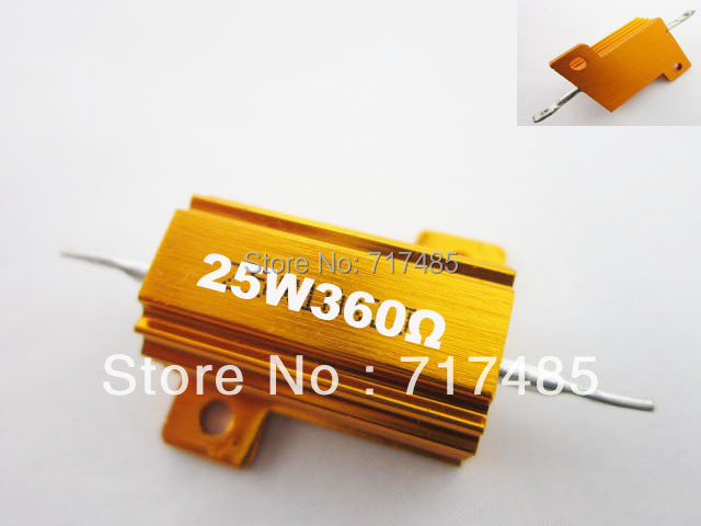 Free Shipping 5pcs 25W Power Wirewound Aluminum Resistor 360ohm  +/- 5%