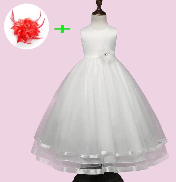 679f516ba1c Robe fille enfant mariage de soirée enfants fête robes de bal petites filles  blanc rouge enfants