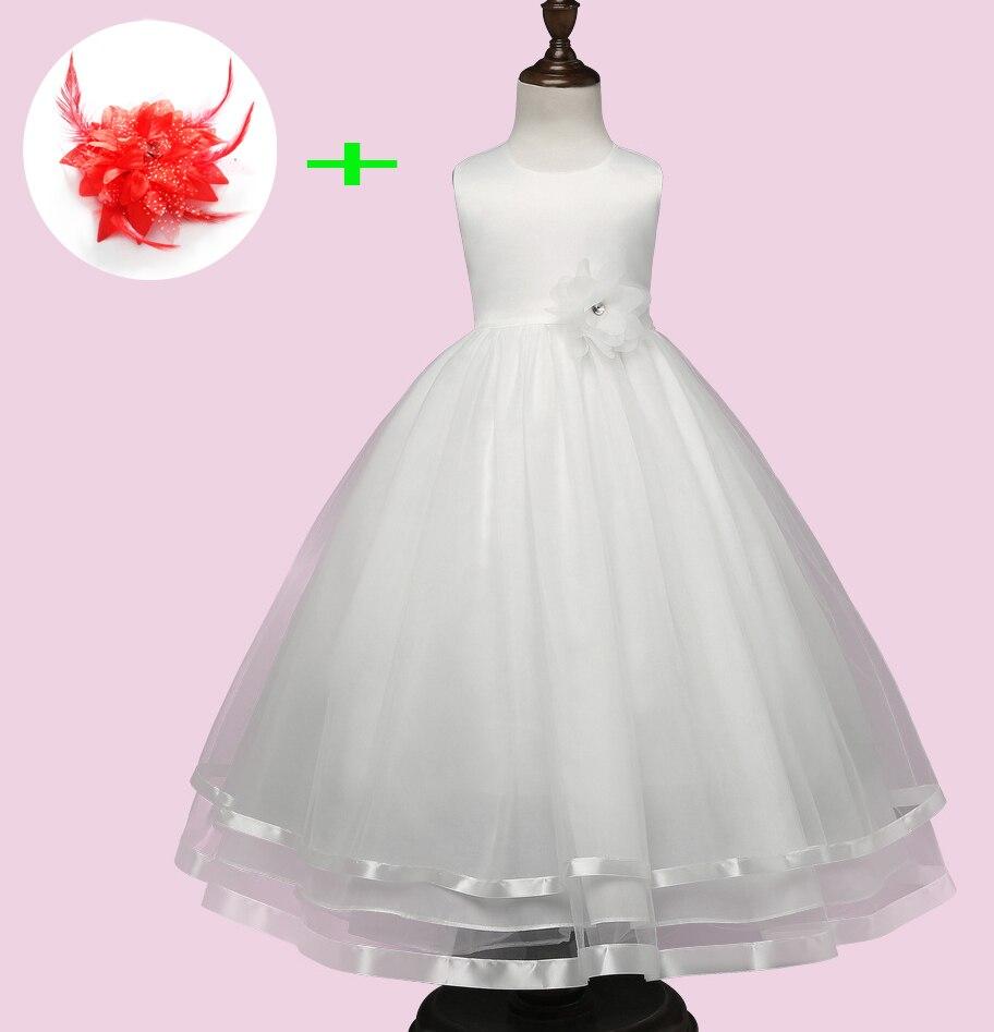US $19.19 19% OFFRobe fille enfant mariage de soiree kinder party  ballkleider kleine mädchen weiß rot kinder hochzeit kleider langechild  wedding