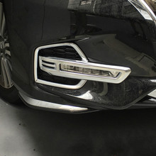 ABS Chrome Front Head Fog Lamp Light Trim cover For 2018 Honda Odyssey RC1 RC2 Japanese Edition Accessories