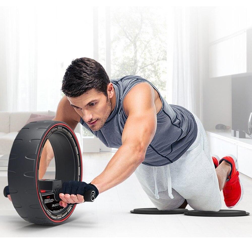 Rodillo de ruedas para abdominales con contador electrónico, rueda de entrenamiento central, equipo de ejercicio Abdominal, Pefect para hombre y mujer - 5