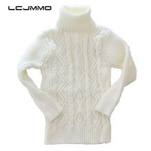 LCJMMO High Quality 2017 Winter Kids Girls Sweater New Soild Turtleneck Knitted Baby Boys Sweaters Soft Warm Children Outerwear