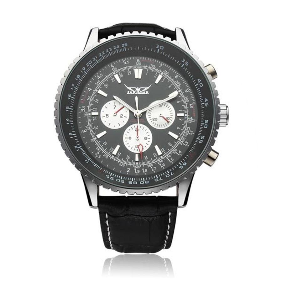 JARAGAR Mechanical Big Dial Multi Number Precise Wrist Watch 2016 New