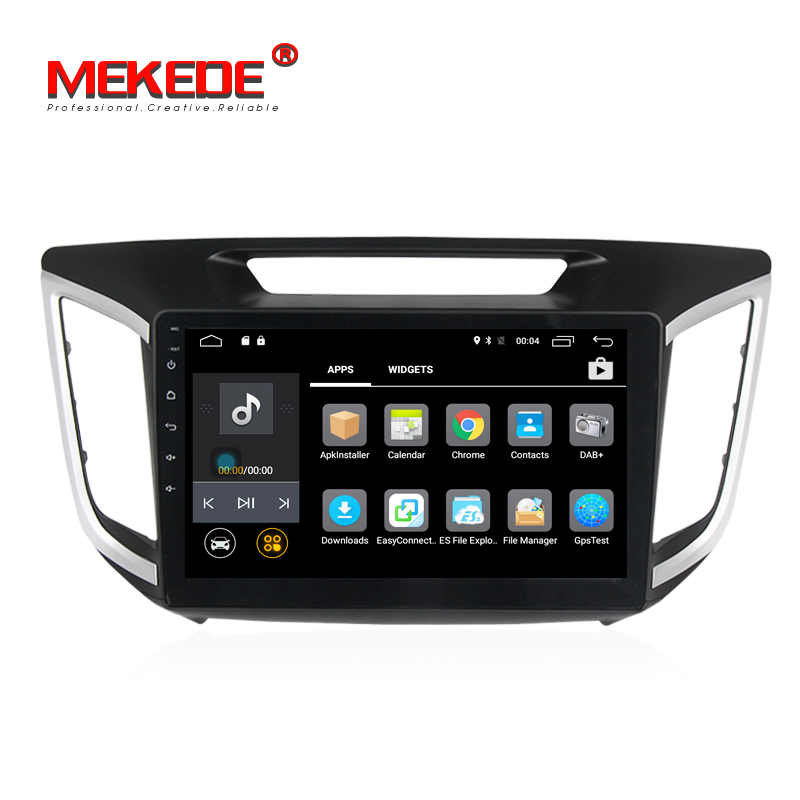 Quad core Android7.1 10.1''HD screen car audio for Hyunida IX25 Creta Car gps navigator multimedia player with 4G wifi radio BT