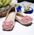 new 2016 style  fashion princess  girl  soft-soled shoe    with lace  pearl girls  flats children  dance shoes #1563
