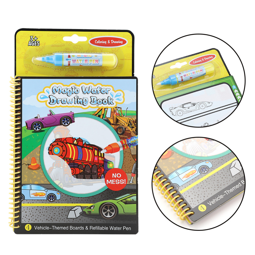Magic Water Drawing Book Coloring Doodle With Pen Painting Board Books For