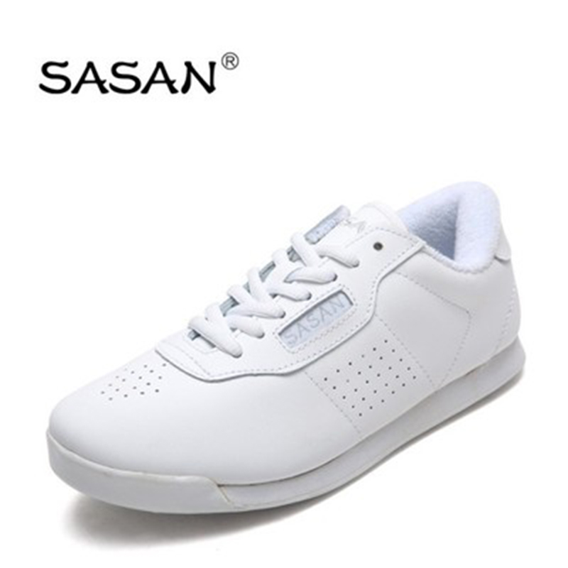 Sneakers Modern Jazz Dance Shoes Woman SASAN 8880 Women Shoes Slip-up White Athletics  Aerobics Training Shoe Cowhide  Upper HOT