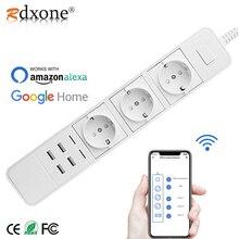 Rdxoneสมาร์ทWifi Power Strip Wifiปลั๊ก4 USB Port Voice Controlทำงานร่วมกับAlexa S,google Home Timer