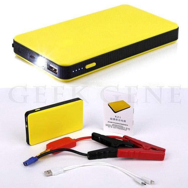 High Quality 8000mAh 12V Mini Car Jump Starter 2.0A Power Bank 300A Peak Car Starter Battery Booster Starter SOS Light Free Ship