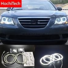 HochiTech dla Hyundai Sonata NF przekształcić Ultra bright SMD białe LED anioł oczy 2600LM zestaw pierścieni świetlnych światła do jazdy dziennej DRL