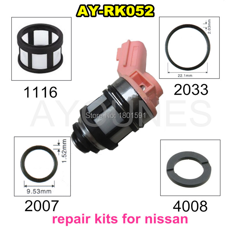 auto parts fuel injector repair kits for fuel injection 16600-9S200 16600-1B000 for Nissan JS23-4 Repalce parts(AY-RK052)