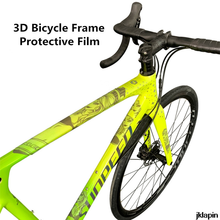 3D mountain bike frame chain protection stickers road bicycle thick film sticker wear-resistant anti-skid waterproof protective