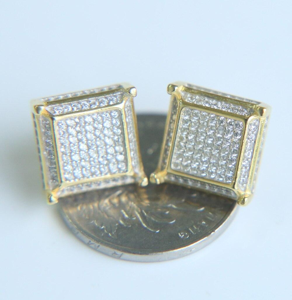2017 Popular Nice Mens Silver Screwback Square Earrings