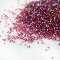 Rosa AB 1440 pcs Micro Diamante DIY Unhas Strass Cristal Strass hotfix não Cola Necessidade Decoração Da Arte Do Prego Cosméticos