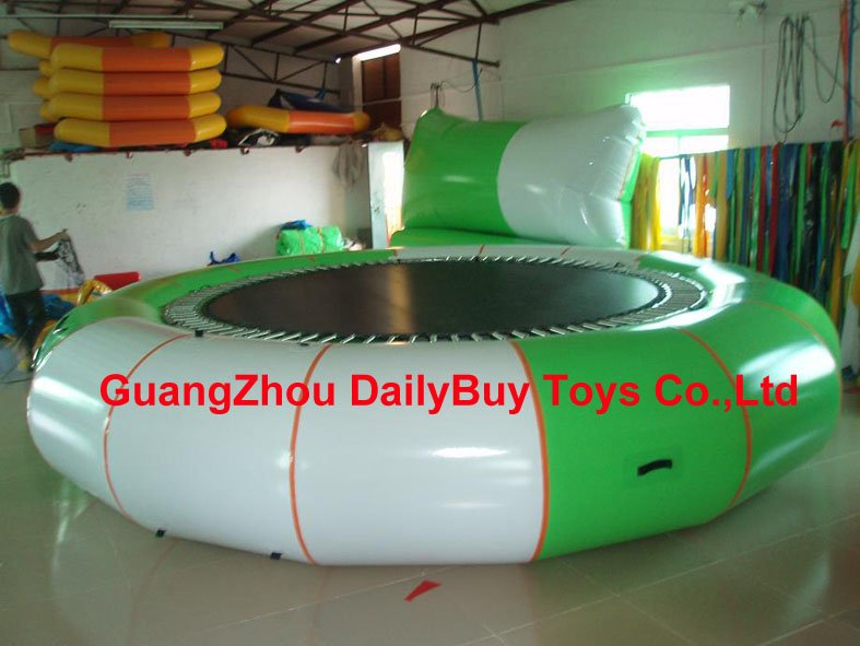 WT12 DHL & 0.9mm PVC  D=5m 16.5ft  Water Trampoline  Platinum Supertramp TM with Strong Steel Spring / water trampoline supertramp supertramp breakfast in america lp