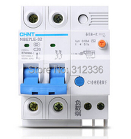 Free Shipping Earth Leakage LE C20 2P 20A 2 Pole ELCB RCD Residual Current Circuit Breaker
