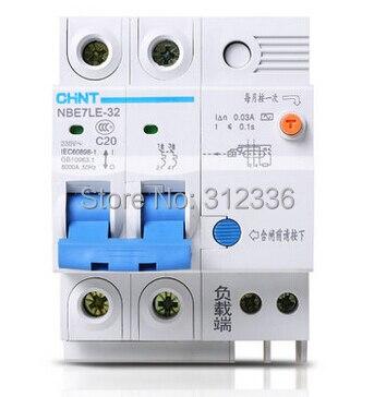 Livraison gratuite fuite de terre LE C20 2 P 20A 2 pôles ELCB RCD disjoncteur de courant résiduel disjoncteur de fuite de terre