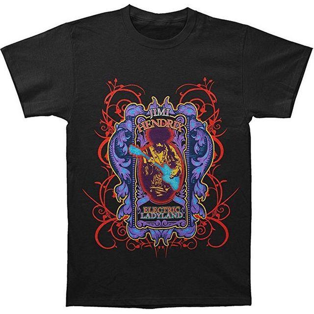 el más nuevo primer nivel zapatos de temperamento € 20.34 |Jimi Hendrix Electric Ladyland camiseta para hombre negra S 3XL  nueva Alta Calidad camisetas impresas personalizadas camisetas Hipster alta  ...