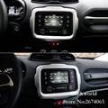 For 2015 JEEP Renegade 2016 Navigation Panel Cover Trim Auto Interior Dashboard Frame Decoration Stainless Car-Styling Accessory