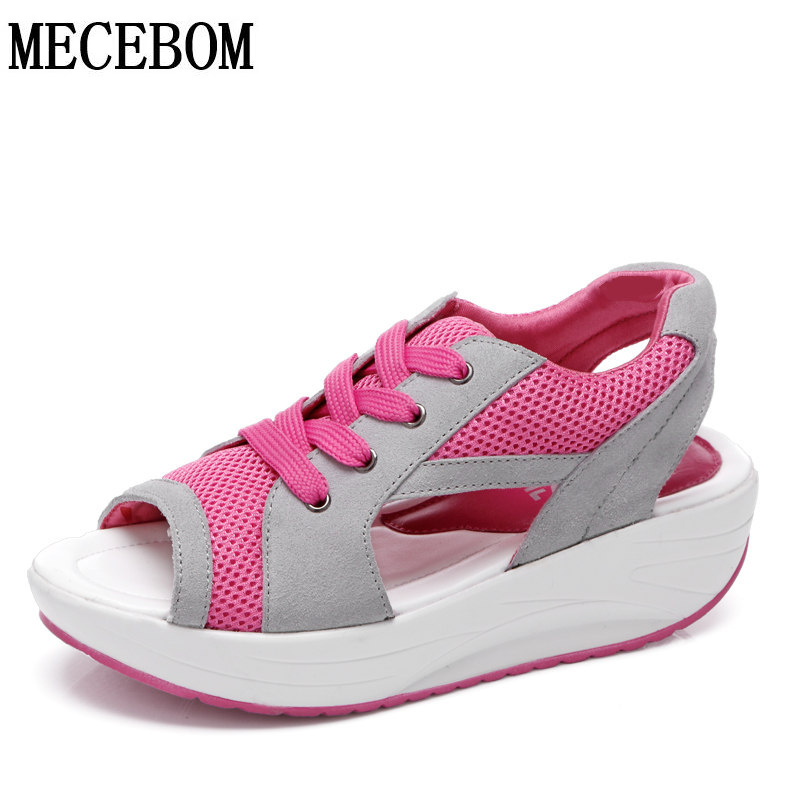 Free Shipping Fashion Loss Weight Women Shoes Spring Summer Autumn Swing Female Breathable Mesh Shoes Women Casual Shoes 2717W 2016 spring and summer free shipping red new fashion design shoes african women print rt 3