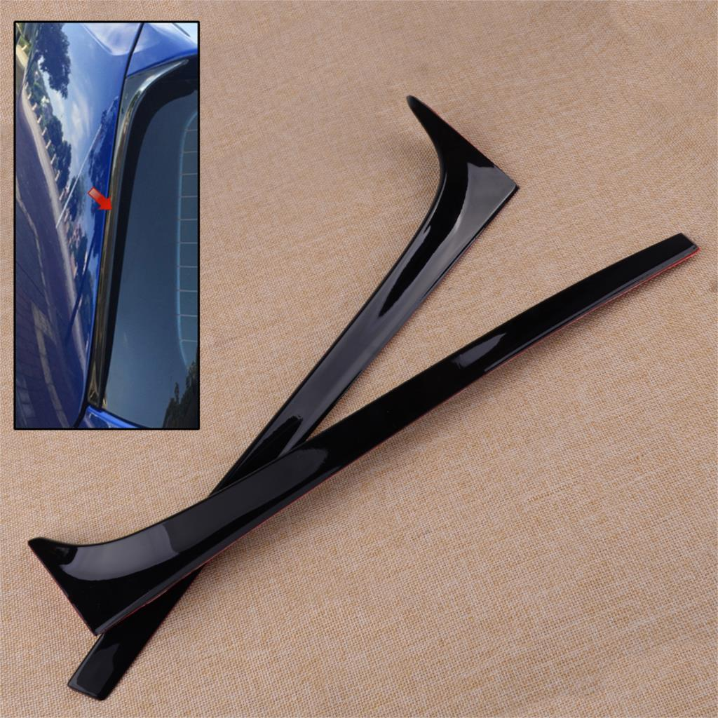 CITALL 2Pcs Car Rear Window Side Spoiler Wing Black Fit For VW <font><b>GOLF</b></font> MK7 MK7.5 <font><b>R</b></font> GTE GTD 2013 2014 2015 2016 2017 <font><b>2018</b></font> image