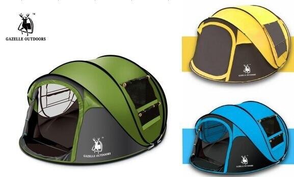 Эмблема антилопа открытый 3-4persons автоматическая скорость открыть бросает всплывающие ветрозащитный водонепроницаемый пляжа кемпинга палатки большое пространство