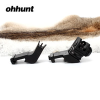 Tactical Ohhunt Front And Rear 45 Degree Offset Hunting Rapid Transition BUIS Backup Iron Sight Set