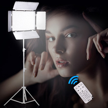Travor TL-600 LED Video Light on Camera Light adjustable Color Temperature +NP-F550 battery+Charger+remote control