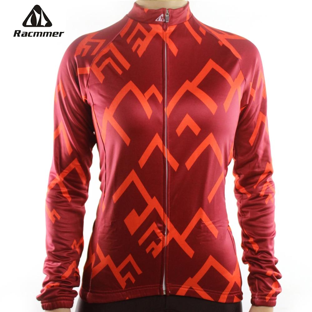 Prix pour Racmmer 2017 Femmes À Manches Longues Maillot Cyclisme Vtt Vélo Clothing Vélo Maillot Ciclismo Sportwear Vélo Vêtements # NL-01