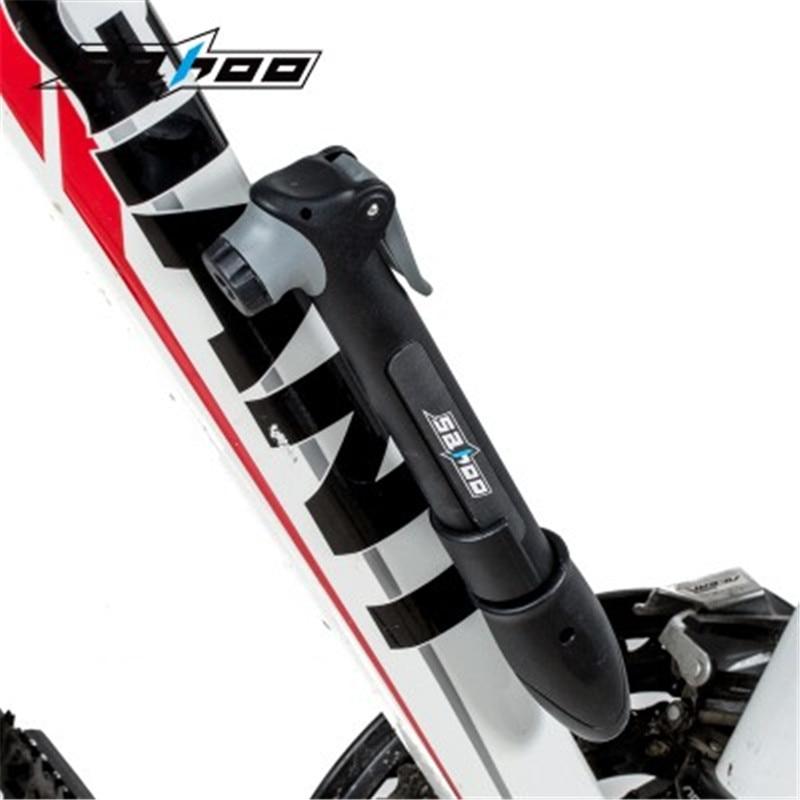 Portable SAHOO Bicycle Mountain Mini Black Bike Nylon Ultra-light Inflatable Tire Pump 311047