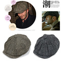 Winter Mens Newsboy Hats Berets Male Outdoor Casual Duckbill Cabbie Ivy Gatsby Caps Free Shipping SDDB-007