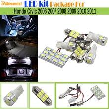 Buildreamen2 Car 5630 LED Bulb Lamp LED Kit Package White Automotive Interior Dome Map Trunk Light For Honda Civic 2006-2011