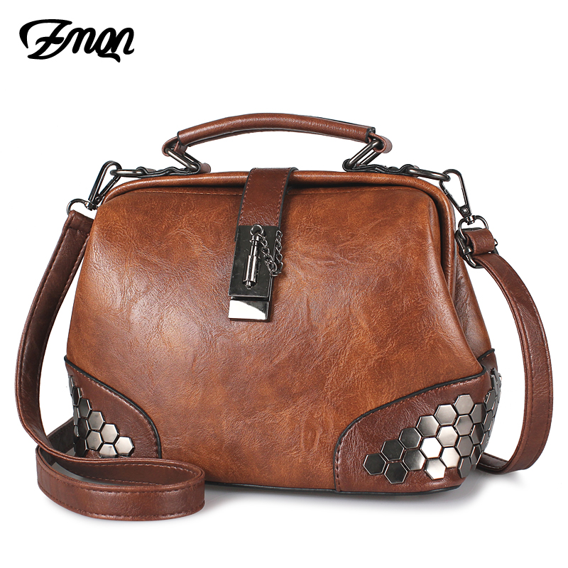 ZMQN Doctor-Bag Rivet Women Handbag Small Vintage Cheap Lady Female for C229