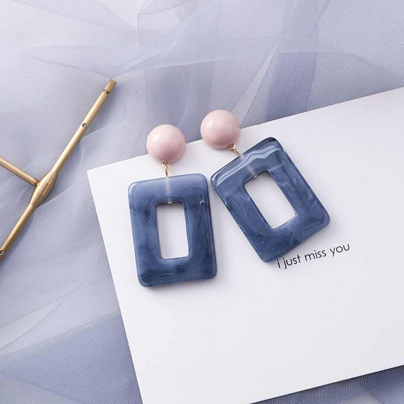 MENGJIQIAO 2019 Hot Sale 30 Style Blue Color Fashion Elegant Geometric Dangle Earrings For Women Cute Pendientes Mujer Jewelry