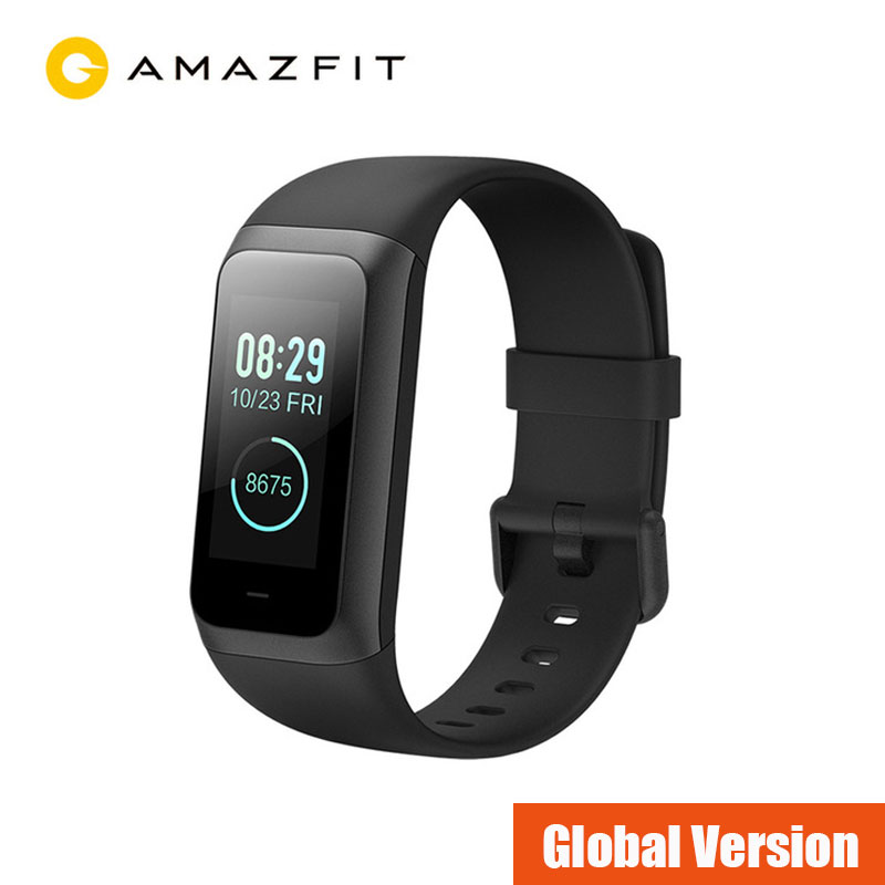 Xiaomi Amazfit Band Cor 2 Smart uhr 5ATM Wasserdichte 2.5D Farbe Edelstahl Rahmen Für Android IOS Huami smartwatch Armband