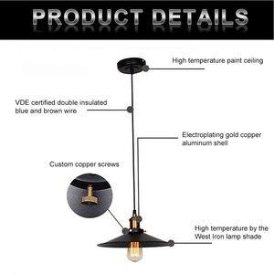 Image 2 - Vintage industriel suspension rétro plafonnier nordique fer abat jour Loft Edison lampe pour salle à manger lampe Restaurant barre