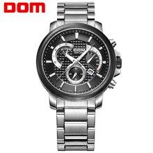 DOM watch man fashion sports quartz for man military chronograph wrist watches men army style 2020 free shipping M-506