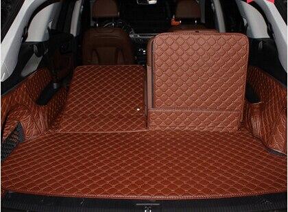 Tapis de haute qualité ensemble complet tapis de coffre pour nouvelle Audi Q7 7 sièges 2017 imperméable à l'eau tapis de coffre pour Audi Q7 2016 style