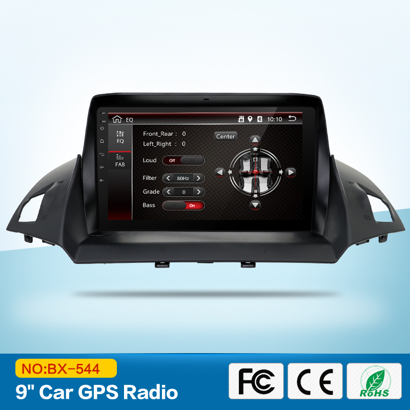 1024*600 9inch Quad Core Android 7.1 Auto DVD Player für Ford Kuga 2013-Mit Bluetooth 16GB nand <font><b>Flash</b></font> 3G Wifi Spiegel image
