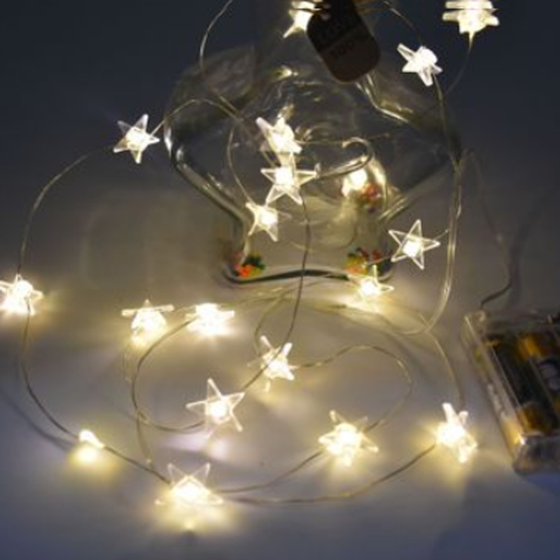 Battery Powered 3M 30 LED Star Silver String Fairy Lights Garland Waterproof For Home Xmas Wedding Party Indoor Outdoor Decor globe fairy string bulb lights for indoor outdoor wedding christmas xmas thanksgiving party events home roof decor colorful