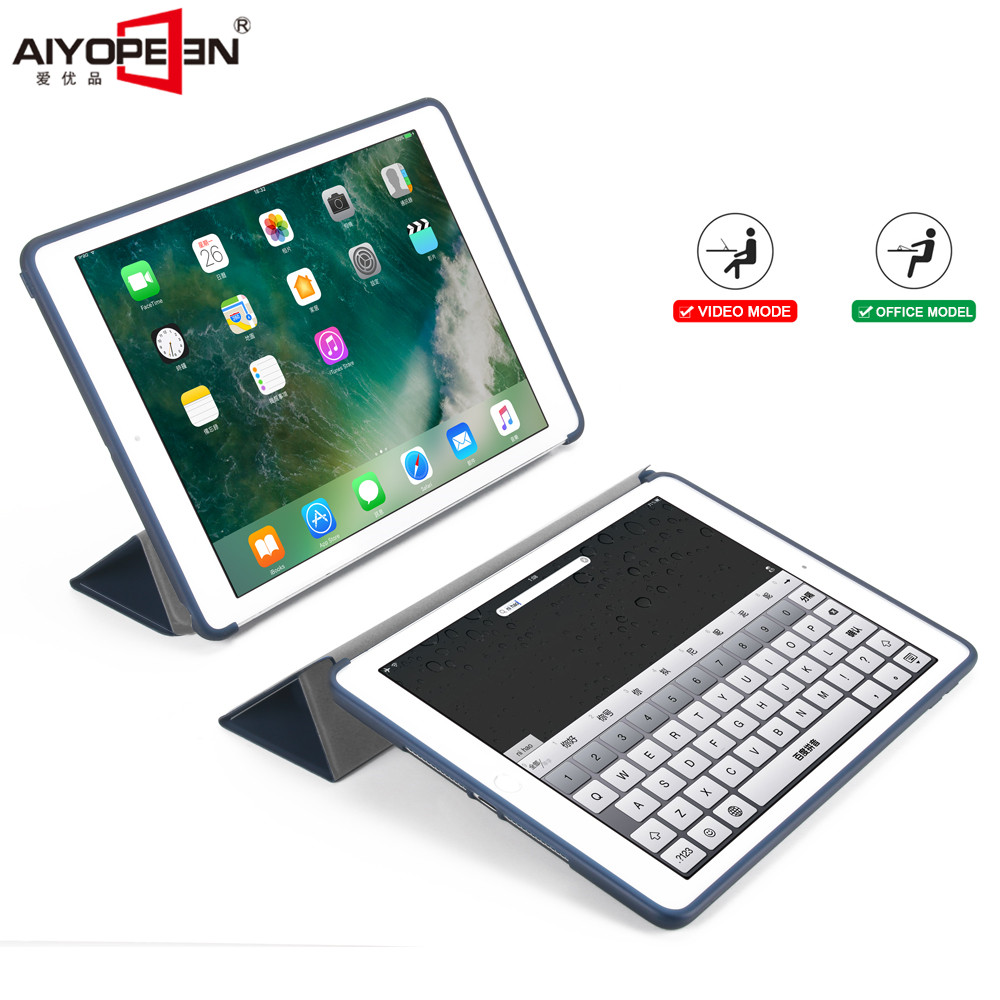 for ipad air 1 case tpu back cover for apple ipad 5 flip stand pu leather smart wake up sleep for ipad 5+small gift