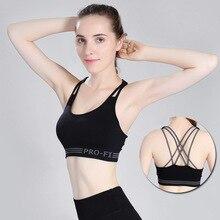Women Fitness Sport Yoga Bra Brassiere Fitness Sport Bra Top Female Push Up Sports gym bra bh stanik sportowy цена